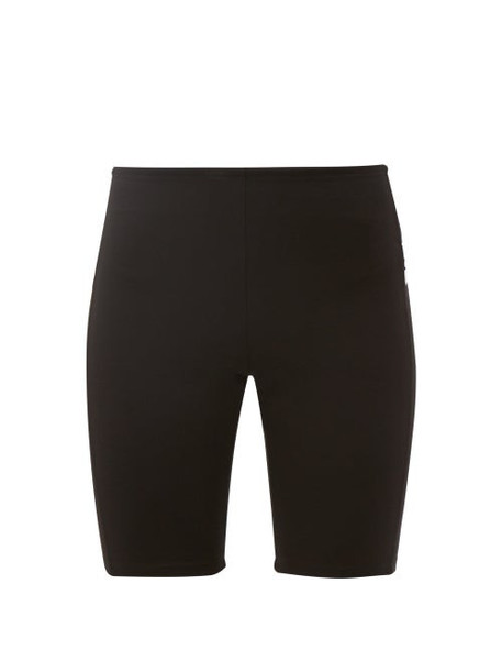 Paco Rabanne - Logo Intarsia Jersey Cycling Shorts - Womens - Black