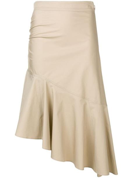 Pinko asymmetric skirt in neutrals
