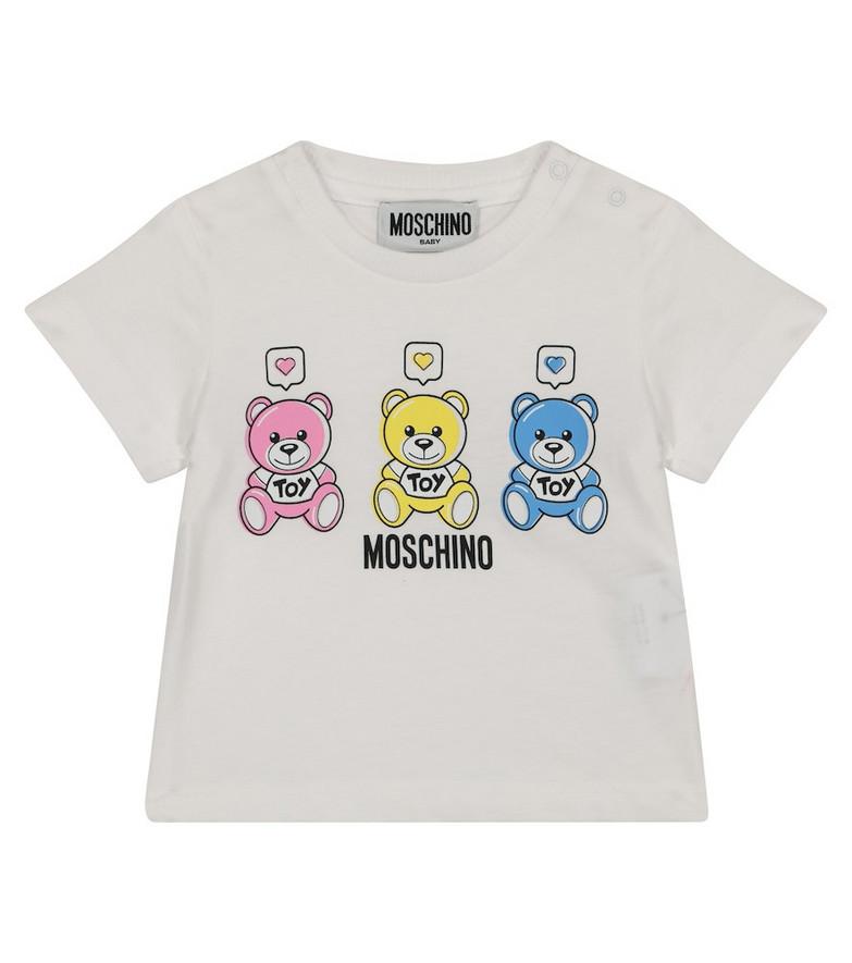 Moschino Kids Baby cotton jersey T-shirt in white