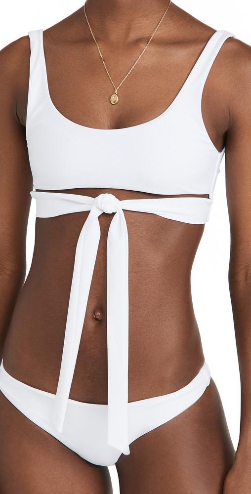 JADE Swim Bond Bikini Top in white