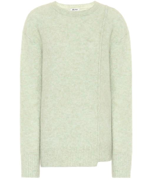 Acne Studios Asymmetric sweater in green