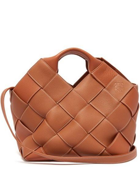 Loewe - Woven Leather Tote - Womens - Tan