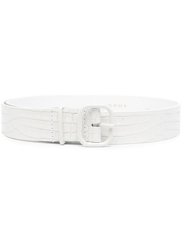 Philosophy Di Lorenzo Serafini crocodile-effect leather belt in white