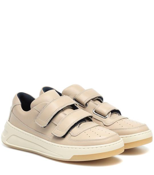 Acne Studios Steffey leather sneakers in beige