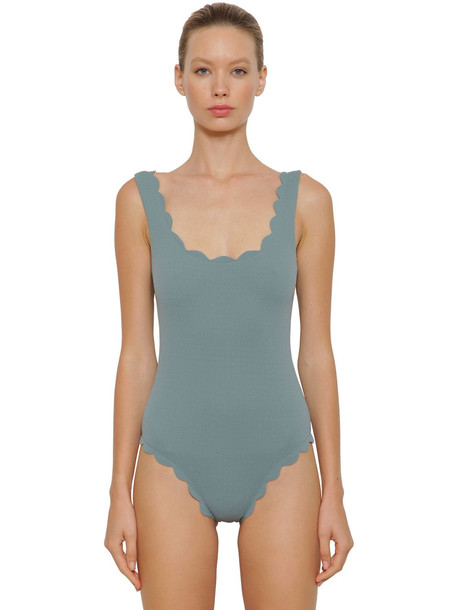 MARYSIA Palm Spring Maillot One Piece Swimsuit in blue