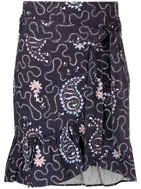 Isabel Marant Étoile Liliko paisley-print mini skirt in blue