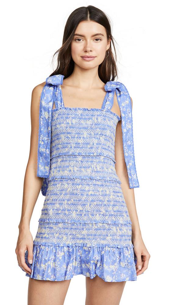 LOVESHACKFANCY Belle Dress in blue