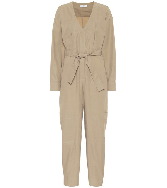Givenchy Cotton-blend jumpsuit in beige