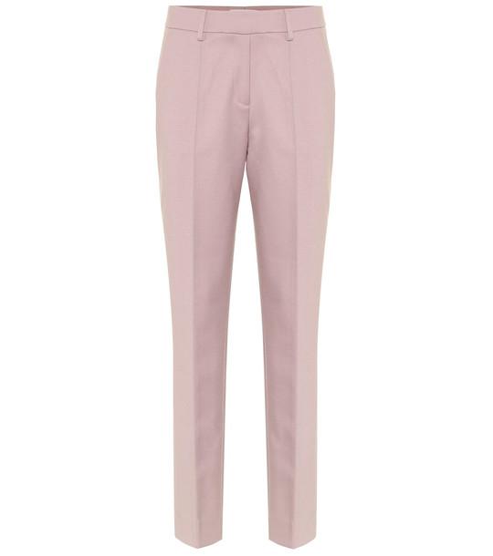 Gabriela Hearst Francisco stretch-wool flared pants in white