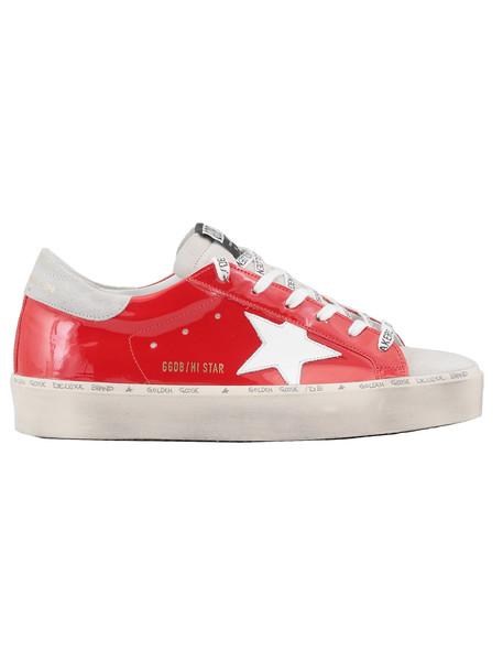 Golden Goose Hi Star Sneaker in red / white