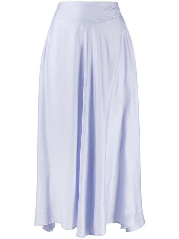 Forte Forte high-waisted midi skirt in blue