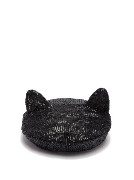 Maison Michel - Billy Cat Ears Sequinned Beret - Womens - Grey