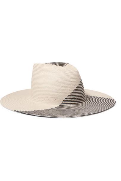 Eugenia Kim - Harlowe Two-tone Paper Hat - Ecru