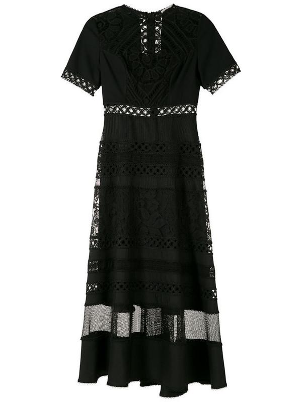 Martha Medeiros Alexa midi dress in black