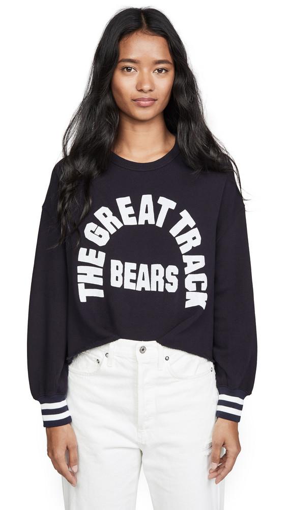 THE GREAT. THE GREAT. Cutoff Sweatshirt in navy