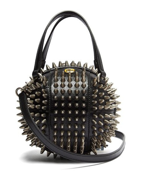 Gucci - Tifosa Basketball Studded Leather Shoulder Bag - Womens - Black