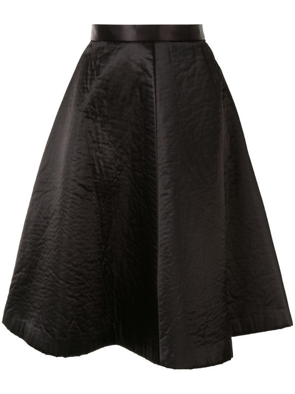 Comme Des Garçons Pre-Owned knee-length full skirt in black