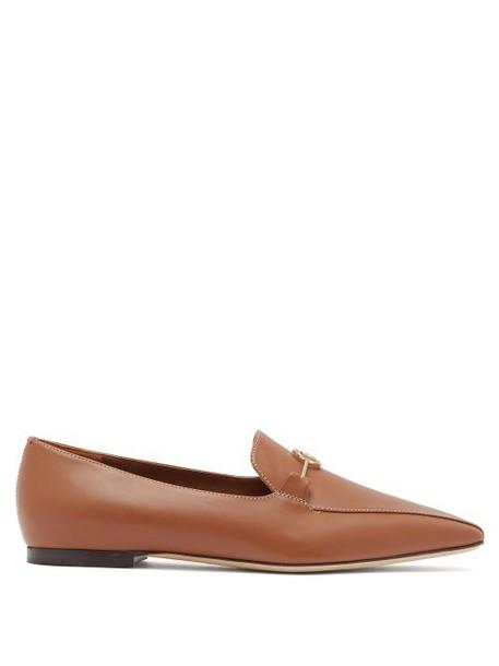 Burberry - Tb Monogram Leather Horsebit Loafers - Womens - Tan