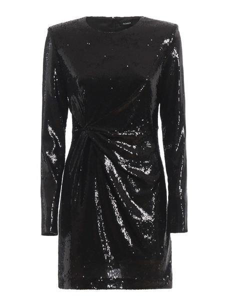 Parosh Parosh Paillettes Mini Dress in nero