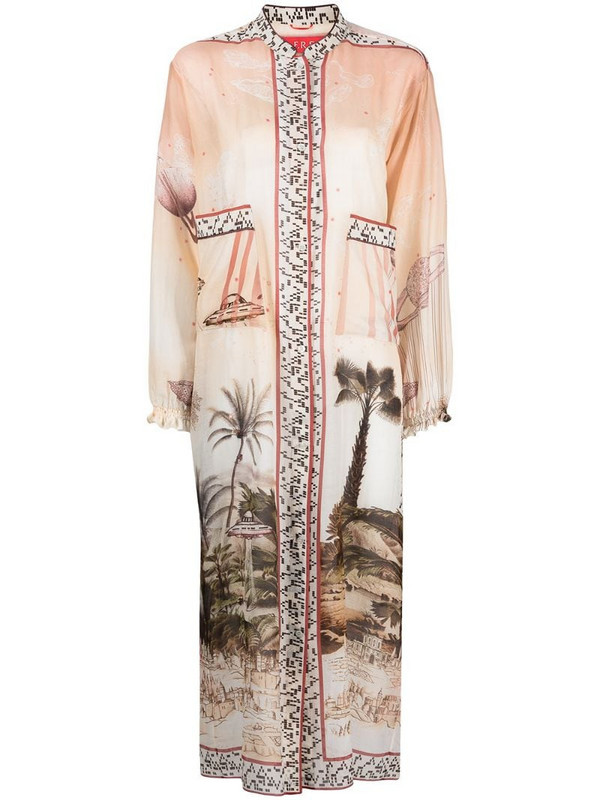 F.R.S For Restless Sleepers mix-print shirt dress in neutrals