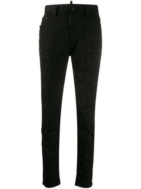 Dsquared2 Dan skinny-leg jeans in black