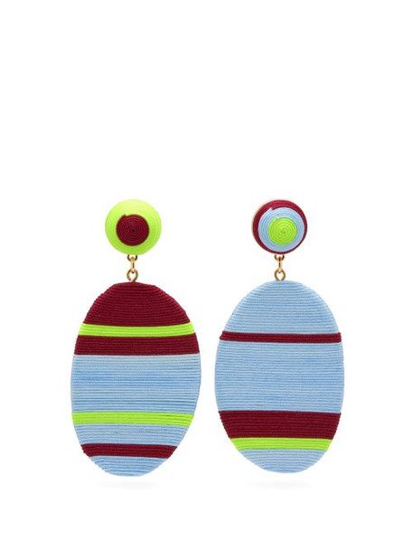 Maryjane Claverol - Piccadilly Hand Wrapped Clip Earrings - Womens - Multi