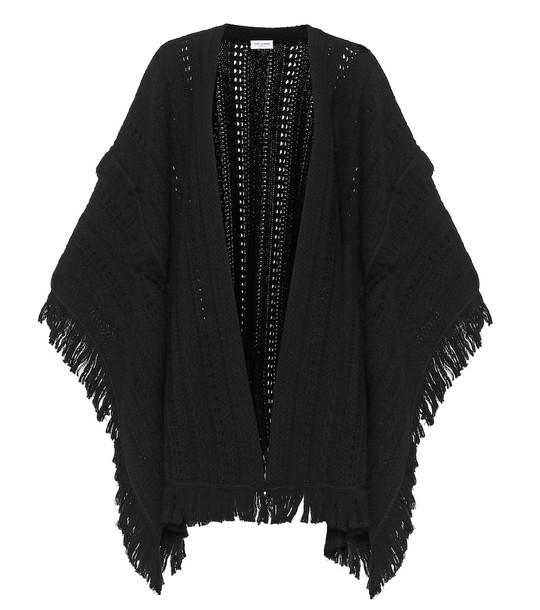 Saint Laurent Wool poncho in black