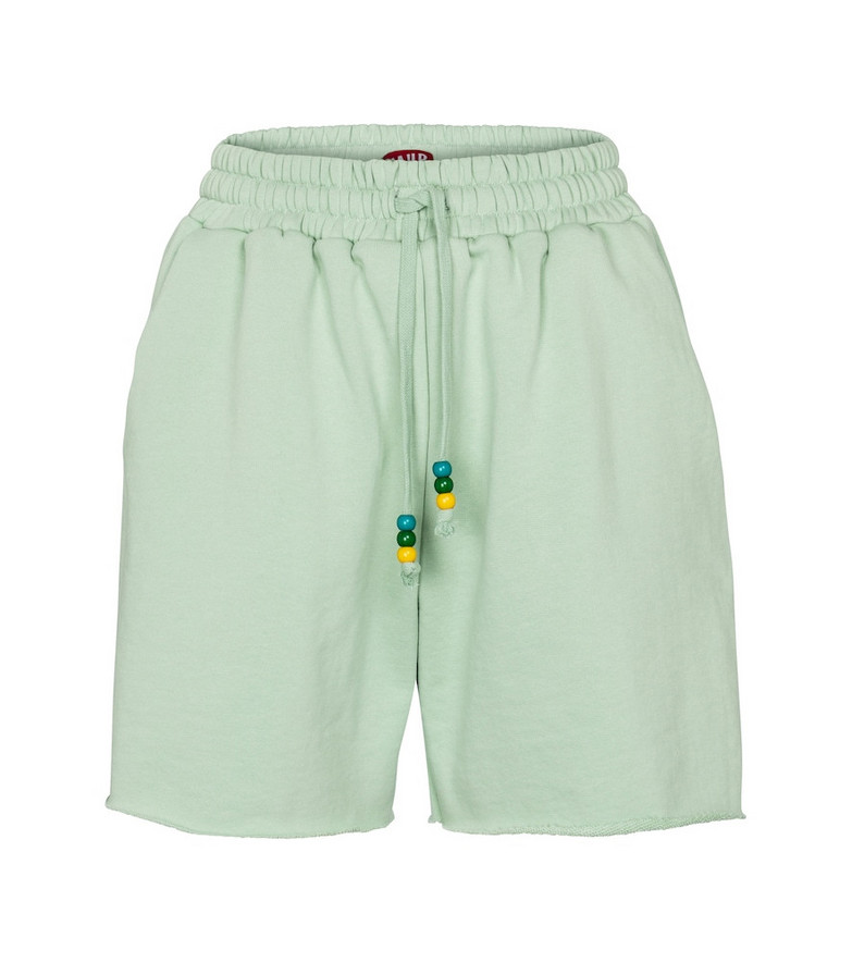 Staud Cotton jersey shorts in green