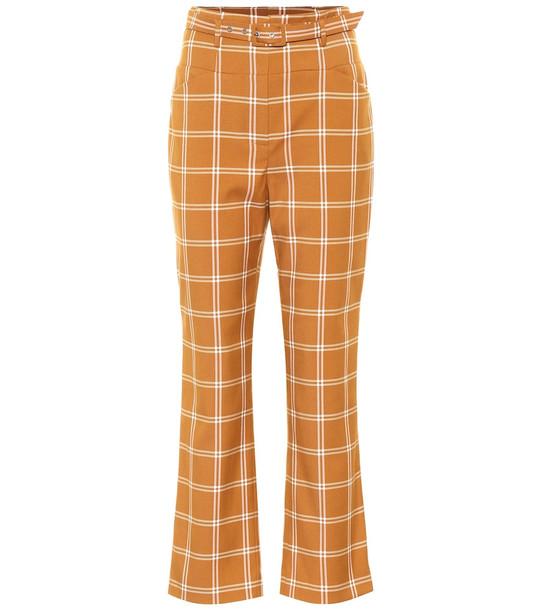Jonathan Simkhai Checked cotton-blend pants in brown