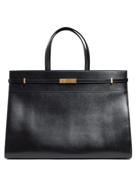 Saint Laurent - Manhattan Medium Leather Shoulder Bag - Womens - Black