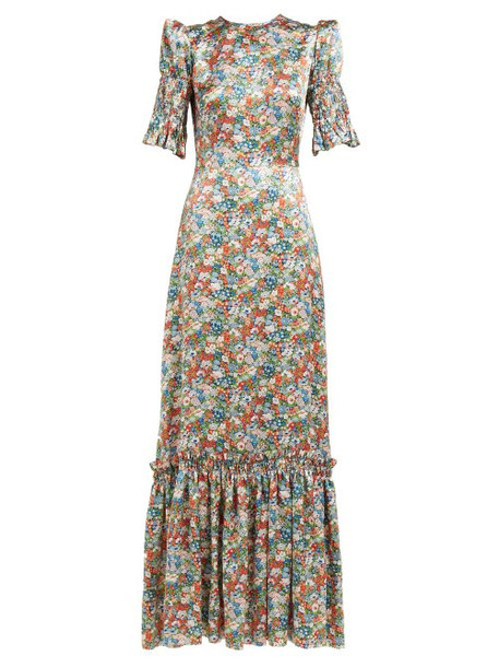 The Vampire's Wife - No.11 Floral Print Silk Satin Maxi Dress - Womens - Multi
