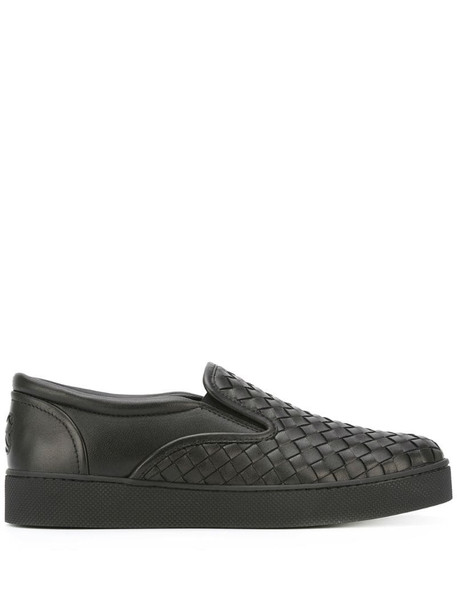 Bottega Veneta nero Intrecciato nappa sneaker in black