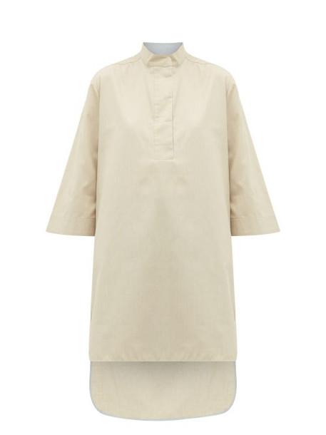 Roksanda - Ikeda Step-hem Poplin Longline Shirt - Womens - Beige