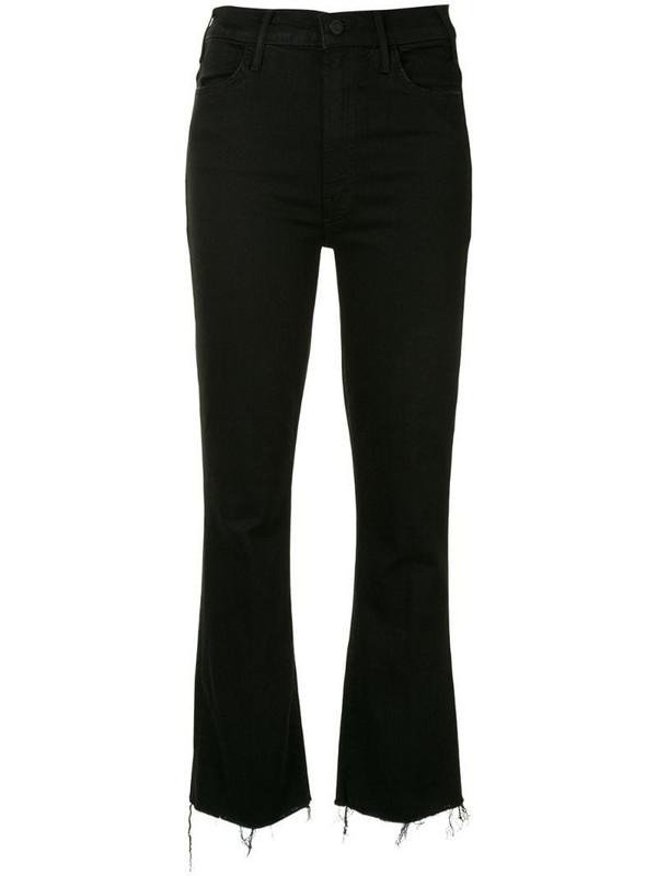 Mother Hustler ankle-crop kick flare jeans in black