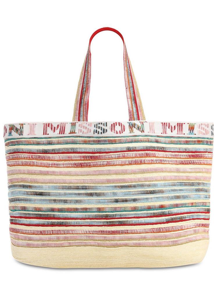 MISSONI Nastri Straw Blend Tote Bag