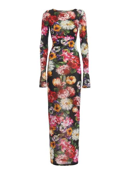 Dolce & Gabbana Dress Flower in nero