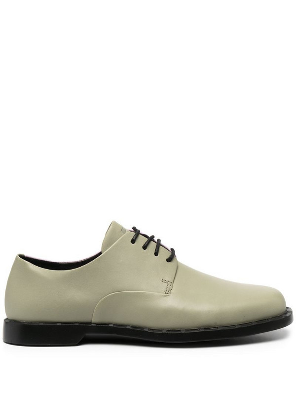 Camper colour block lace-up shoes in green