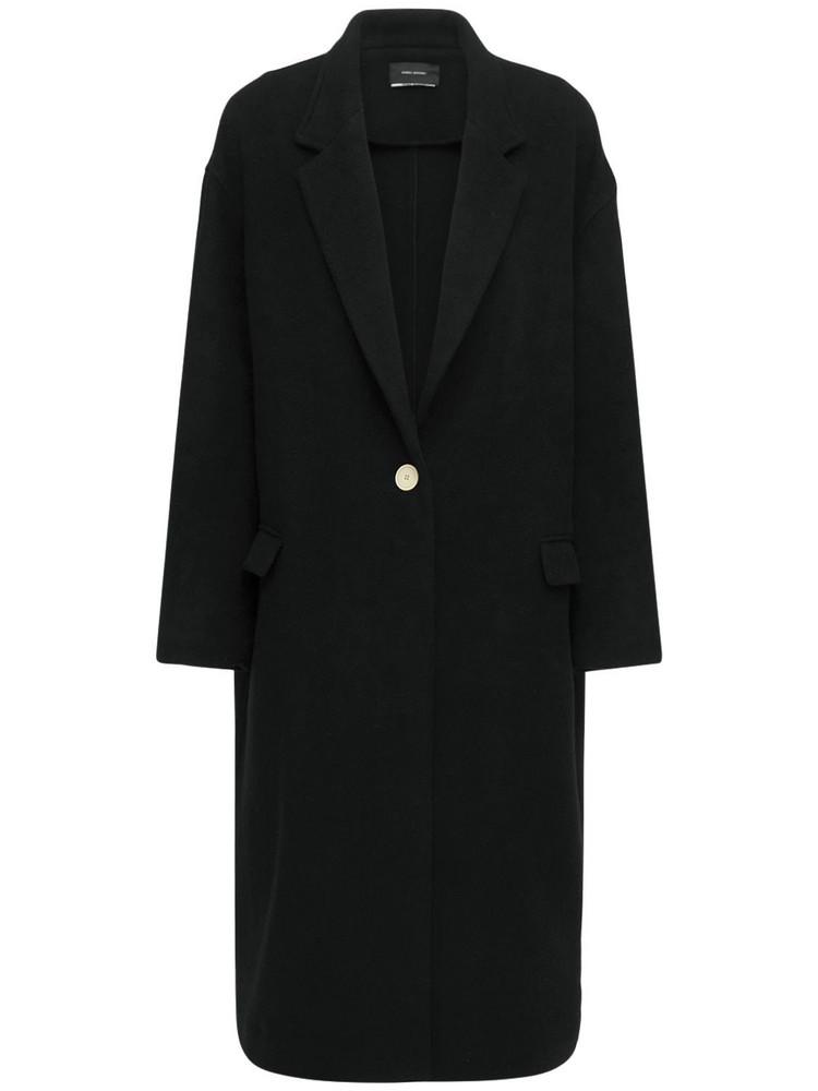 ISABEL MARANT Efezia Timeless Wool Blend Coat in black