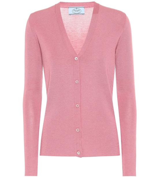 Prada Cashmere and silk cardigan in pink