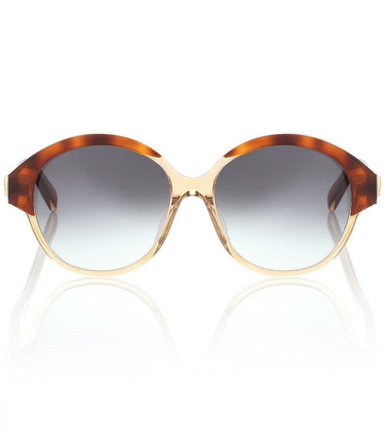 Celine Eyewear Round sunglasses in brown