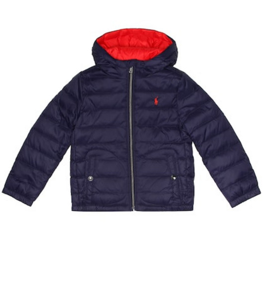 Polo Ralph Lauren Kids Reversible quilted down jacket in blue