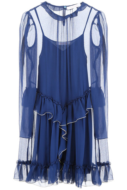 See by Chloé See by Chloé Ruffled Dress in blue
