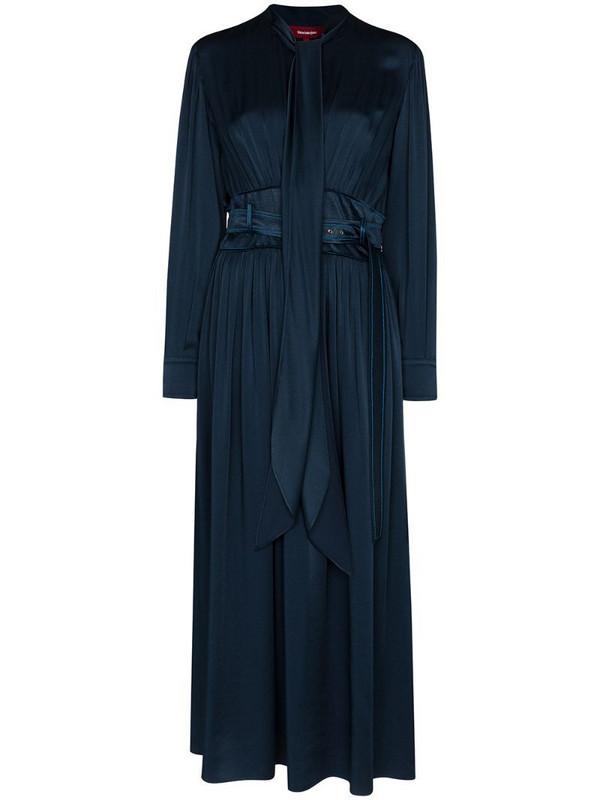 Sies Marjan Faye belted midi dress in blue