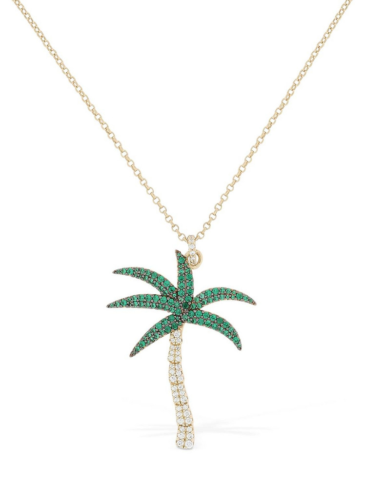 APM MONACO Arc-en-ciel Palm Tree Necklace in gold / green