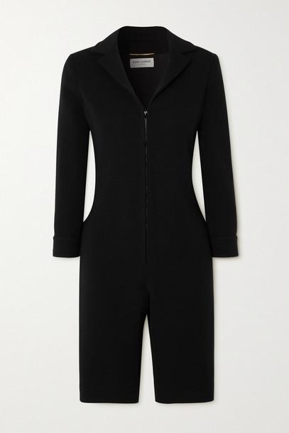 SAINT LAURENT - Wool-blend Jersey Playsuit - Black