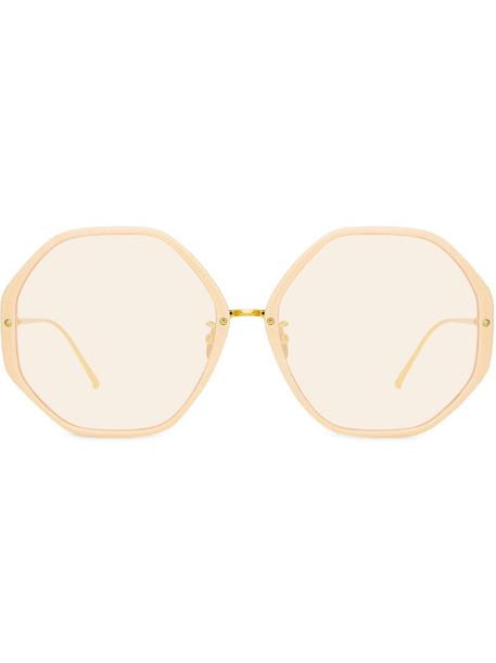 Linda Farrow Alona C14 oversized sunglasses in gold