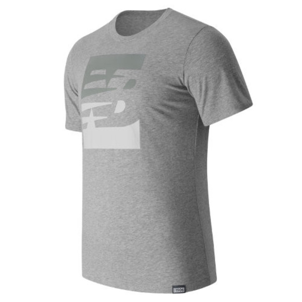 New Balance 63514 Men's Split Sport Style Tee - Grey (MT63514AG)