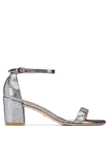 Stuart Weitzman Simple 60 metallic sandals in silver