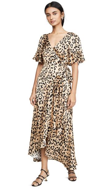 Temperley London Piera Wrap Dress in leopard