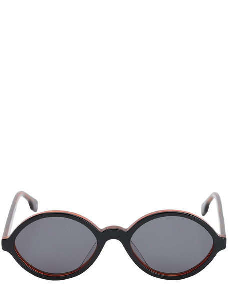 LE SPECS Impromtus Round Acetate Sunglasses in black